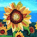 Sunflowers and Blue Sky Poster by Genevieve Esson