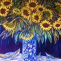 Sunflowers with Yellow Apples  1 Poster by Gunter  Hortz