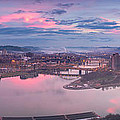 Sunrise in Pittsburgh Pano  Poster by Emmanuel Panagiotakis