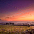 Sunrise over Cornwall Print by Christine Smart