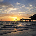 Sunset at Clearwater Print by Bill Cannon