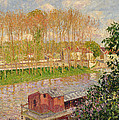Sunset at Moret sur Loing Poster by Camille Pissarro