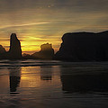 Sunset at the Coast Print by Andrew Soundarajan