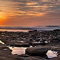 Sunset at the Tidepools II Print by Peter Tellone