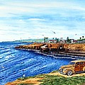 SUNSET CLIFFS OCEAN BEACH Poster by John YATO