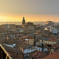 Sunset in Calahorra from the bell tower of Saint Andrew church Poster by RicardMN Photography