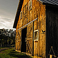 Sunset on the Horse Barn Poster by Edward Fielding