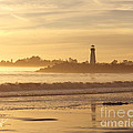 Sunset on the Lighthouse in Santa Cruz Harbor Print by Artist and Photographer Laura Wrede