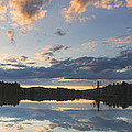 Sunset Over Flying Pond in Vienna Maine Print by Keith Webber Jr
