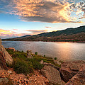 Sunset over Horsetooth Print by Preston Broadfoot
