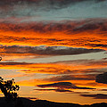 Sunset over the Rocky Mountain Front Range Loveland Colorado Print by Robert Ford