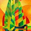 Sunset Sails and Shadows Poster by Tracey Harrington-Simpson