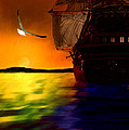 Sunset Sails Print by Lourry Legarde