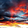 Sunset Sky Melts into the Sangre de Cristo Mountains Print by Barbara Chichester