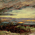 Sunset study of Hampstead Poster by John Constable