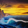Sunset Wave Print by Charles Eagle