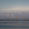Sunshine Skyway Bridge Print by Steven Sparks