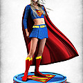 Super Girl v1 Print by Frederico Borges