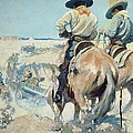 Supply Wagons Print by Newell Convers Wyeth
