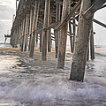 Surf City Ocean Pier Print by Betsy A  Cutler