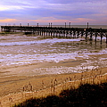 SURF CITY PIER Print by KAREN WILES