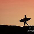 Surfer Crossing Print by Paul Topp