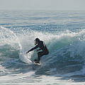 Surfing In The Sun Print by Donna Blackhall