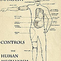SURGERY CONTROLS the HUMAN MECHANISM   1906 Print by Daniel Hagerman