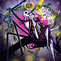 Sweet loving dreams in Halloween night Poster by Alessandro Della Pietra