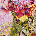 Sweet Peas with Cherries and Strawberries Poster by Joan Thewsey