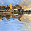 Sydney Harbour Bridge Australia Spectacular Early Morning Light Poster by Colin and Linda McKie