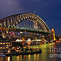 Sydney Harbour Bridge by Night Poster by Kaye Menner
