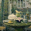 Table laden for spring Poster by Henry Eugene Le Sidaner