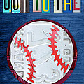 Take Me Out to the Ballgame License Plate Art Lettering Vintage Recycled Sign Poster by Design Turnpike