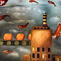 Tangerine Dream edit 2 Print by Leah Saulnier The Painting Maniac