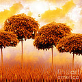 Tangerine Trees and Marmalade Skies Print by Mo T