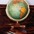 Teacher - Globe on Piano Poster by Susan Savad