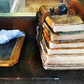 Teacher - Old School Books and Slate Poster by Susan Savad