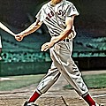 Ted Williams Painting Print by Florian Rodarte