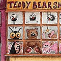 Teddy Bear Shop Print by Lucia Stewart