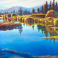 Tee Time Sunriver Meadows Print by Pat Cross