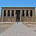 Temple of Hathor near Dendera-Egypt Print by Ruth Hager