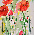 Tender Poppies - Flower Poster by Ismeta Gruenwald