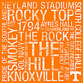 Tennessee College Colors Subway Art Print by Replay Photos