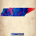 Tennessee Watercolor Map Poster by Irina  March