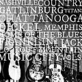 Tennessee Words Sign Poster by Chastity Hoff