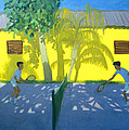 Tennis  Cuba Poster by Andrew Macara
