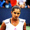 Tennis Player Sania Mirza Print by Nishanth Gopinathan