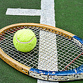 Tennis - Wooden Tennis Racquet Print by Paul Ward