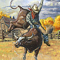 Texas Bull Rider Poster by Jeff Brimley